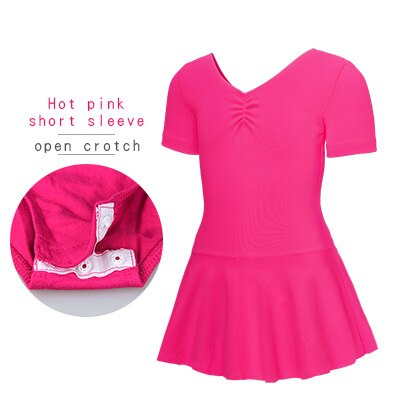 Hot Pink, Short Sleeved, Open Crotch
